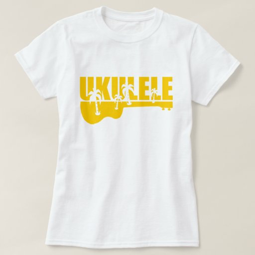 Tropical hawaiian uke ukulele design t shirt zazzle for Hawaiian design t shirts