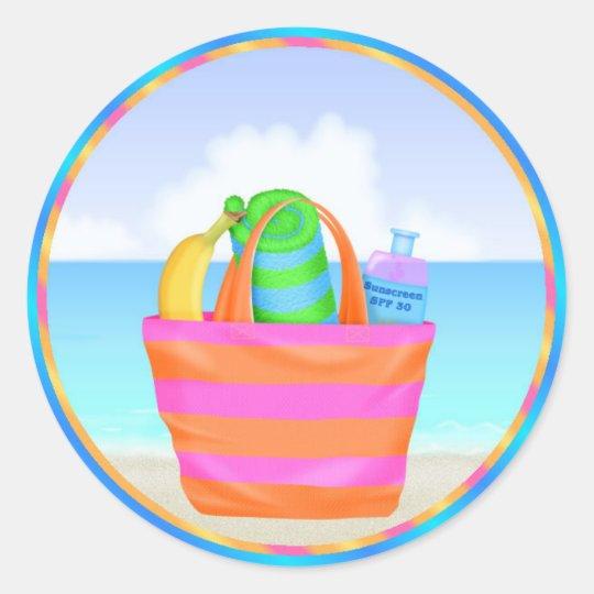 Tropical Hawiian Luau Cupcake Toppers Stickers | Zazzle.com