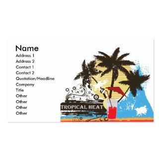 tropical heat design business card