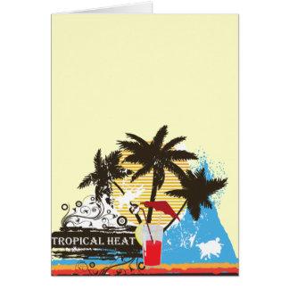 tropical heat design card