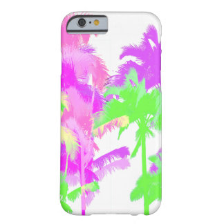 Tropical Heat Wave Neon Hawaiian Palm Trees Barely There iPhone 6 Case