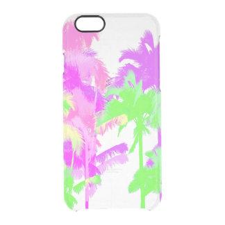 Tropical Heat Wave Neon Hawaiian Palm Trees Clear iPhone 6/6S Case
