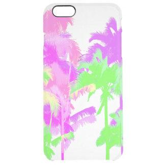 Tropical Heat Wave Neon Hawaiian Palm Trees Clear iPhone 6 Plus Case