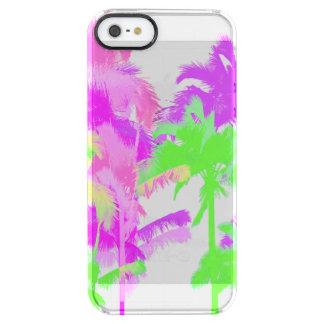 Tropical Heat Wave Neon Hawaiian Palm Trees Clear iPhone SE/5/5s Case