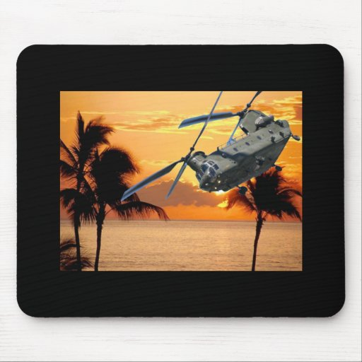 Tropical Helicopter Mouse Pads