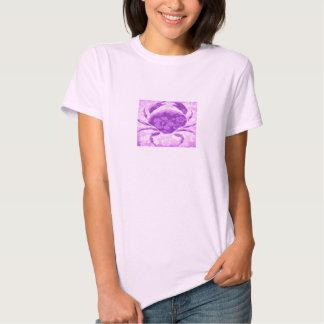 Tropical hibiscus crab womens shirt design