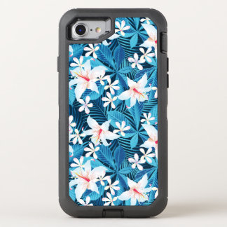 Tropical Hibiscus Floral Pattern 2 OtterBox Defender iPhone 8/7 Case