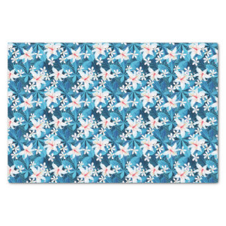 Tropical Hibiscus Floral Pattern 2 Tissue Paper