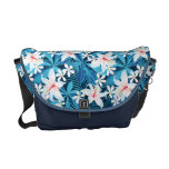 Tropical Hibiscus Floral Pattern Courier Bags
