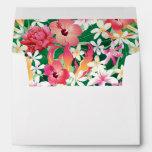Tropical Hibiscus Floral Pattern Envelope