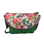 Tropical Hibiscus Floral Pattern Messenger Bag
