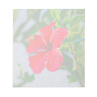 Tropical HIbiscus Floral Print Note Pad
