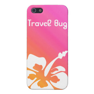 Tropical Hibiscus flower iPhone Pink Orange Cover For iPhone 5