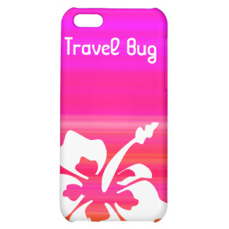 Tropical Hibiscus flower iPhone Pink Red Purple iPhone 5C Case