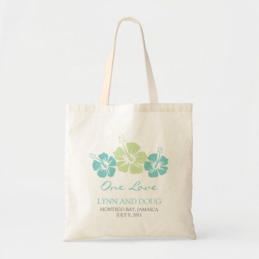 Tropical Hibiscus Flowers Tote Bags