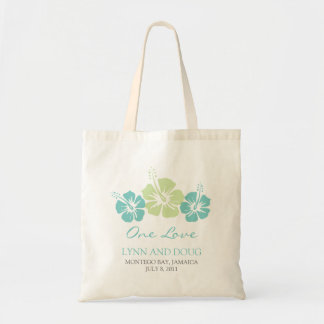 Tropical Hibiscus Flowers Budget Tote Bag