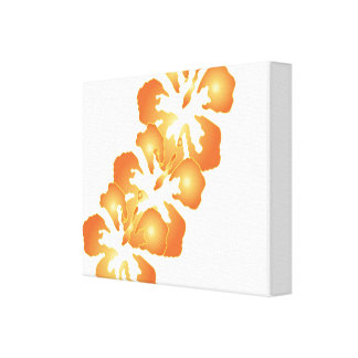 Tropical Hibiscus Flowers Canvas Print