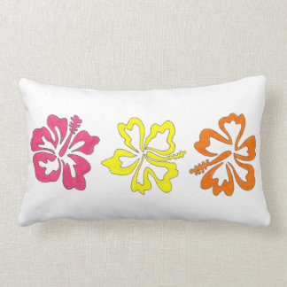 Tropical Hibiscus Flowers Flower Power Pillow