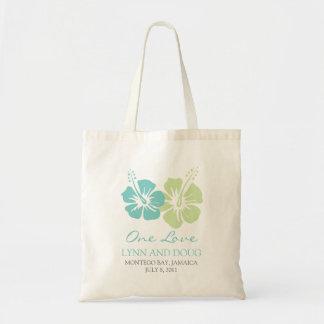 Tropical Hibiscus Flowers Tote Bag