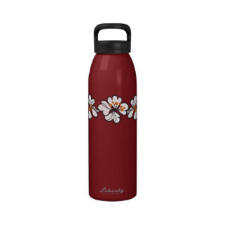 Tropical Hibiscus Flowers Reusable Water Bottles