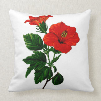 Tropical Hibiscus Home Decor Pillow