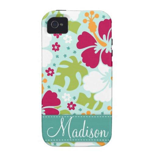 Tropical Hibiscus iPhone 4 Case