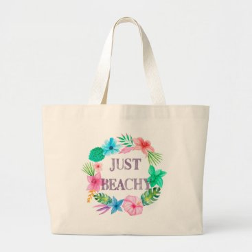 Tropical Hibiscus Just Beachy Tote Bag