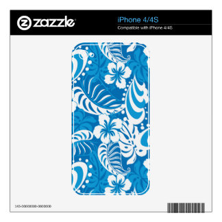 Tropical Hibiscus Pattern iPhone 4S Skin