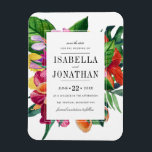 "Tropical Hibiscus, Plumeria &amp; Palm | Save The Date Magnet<br><div class=""desc"">Create your own &quot;Tropical Hibiscus,  Plumeria &amp; Palm 