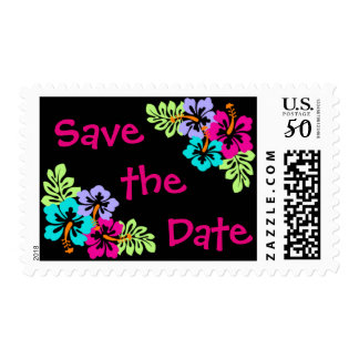 Tropical Hibiscus - Postage Stamp