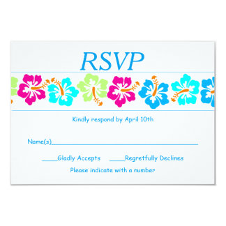 Tropical Hibiscus - RSVP Card