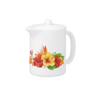Tropical Hibiscus Small Pitcher at Zazzle