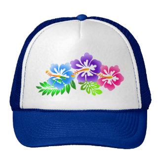 tropical hibiscus summer beach trucker hat