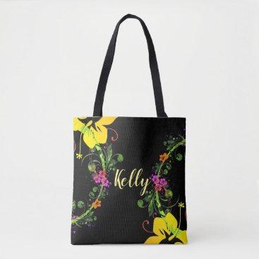 Beach Themed Tropical hibiscus tote. tote bag