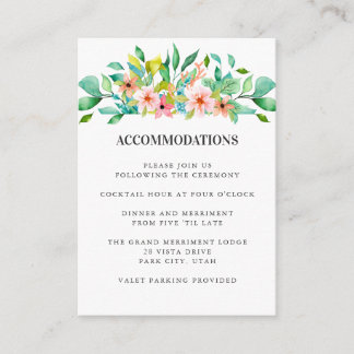 Tropical Hibiscus | WEDDING Hotel Accommodation Enclosure Card