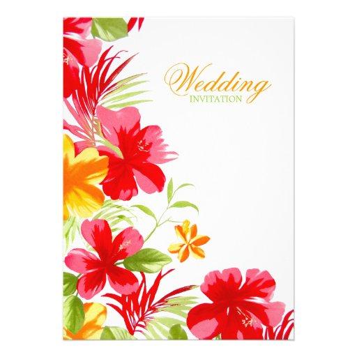 Tropical Hibiscus Wedding invitation 5u0026quot; X 7u0026quot; Invitation Card : Zazzle