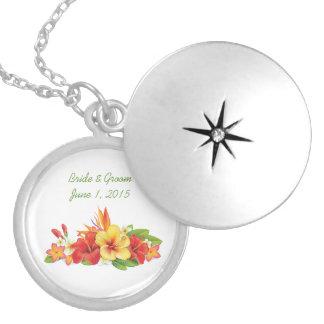 Tropical Hibiscus Wedding Necklace