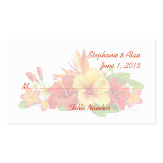 Tropical Hibiscus Wedding Place Cards Business Card