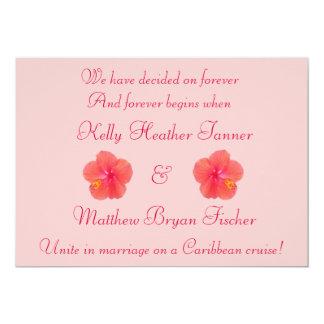 Tropical Hibiscus Wedding Reception Invitation