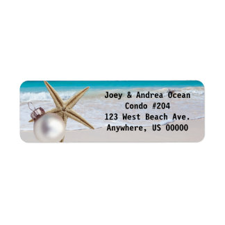Tropical Holiday Custom Address Labels