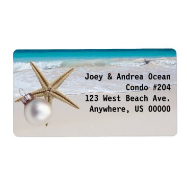 Beach Themed Tropical Holiday Custom Address Labels Large