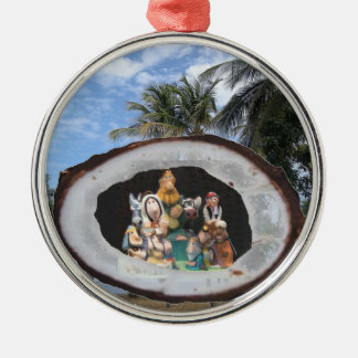 Tropical Holiday Metal Ornament