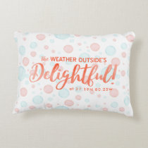 Tropical Holidays Photo | Latitude & Longitude Decorative Pillow