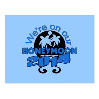 Tropical Honeymoon 2014 Postcard