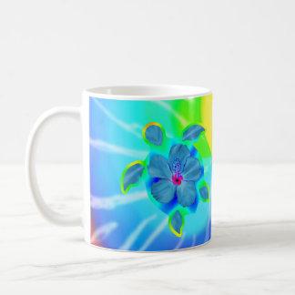 Tropical Honu Turtle and Hibiscus Coffee Mug