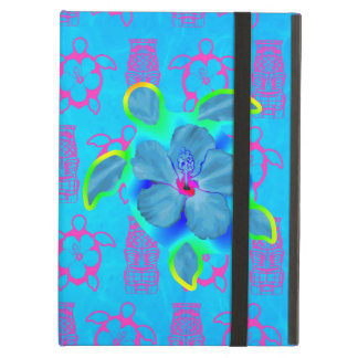 Tropical Honu Turtle and Hibiscus Cover For iPad Air