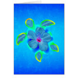 Tropical Honu Turtle and Hibiscus Greeting Card