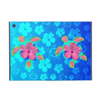 Tropical Honu Turtle and Hibiscus Cover For iPad Mini