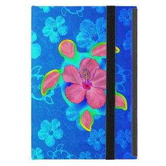 Tropical Honu Turtle and Hibiscus iPad Mini Case