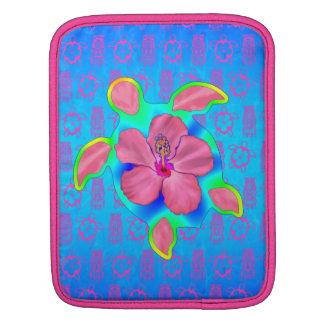 Tropical Honu Turtle and Hibiscus iPad Sleeve